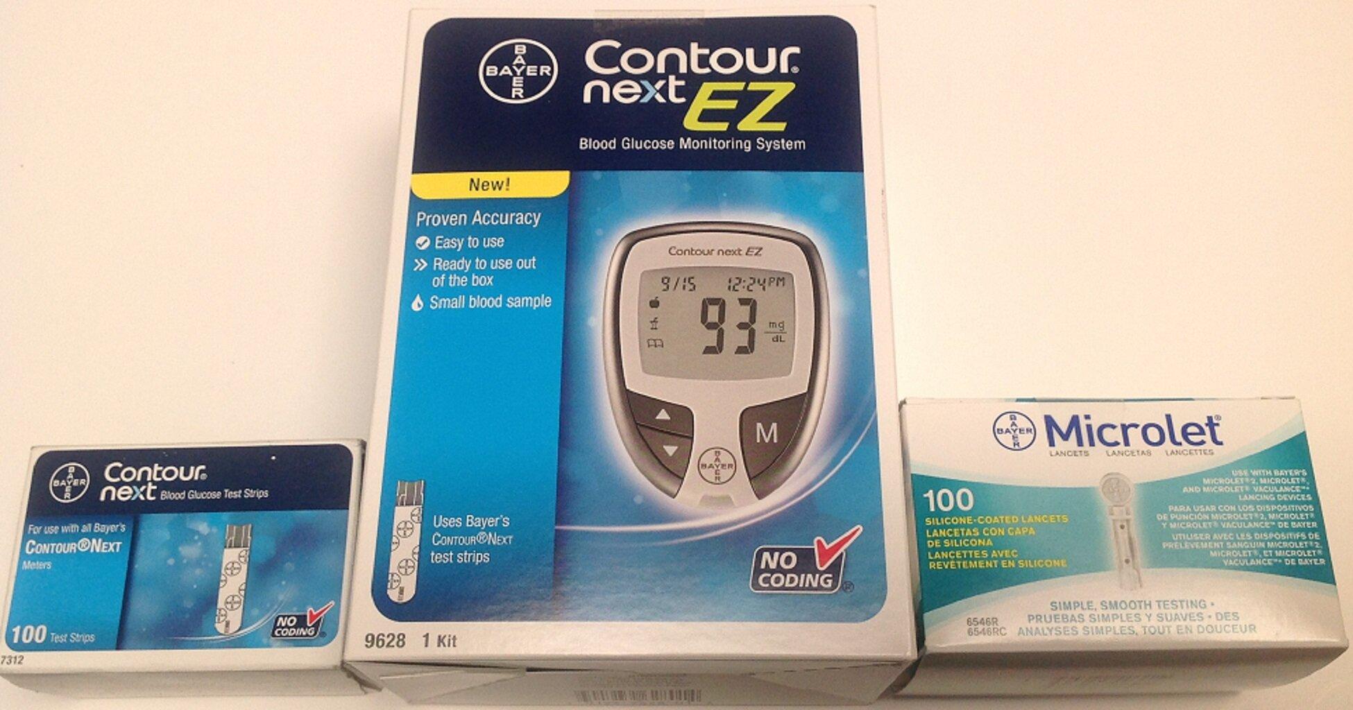 So sánh máy đo đường huyết Accu Chek Nano và máy Bayer Contour Next EZ