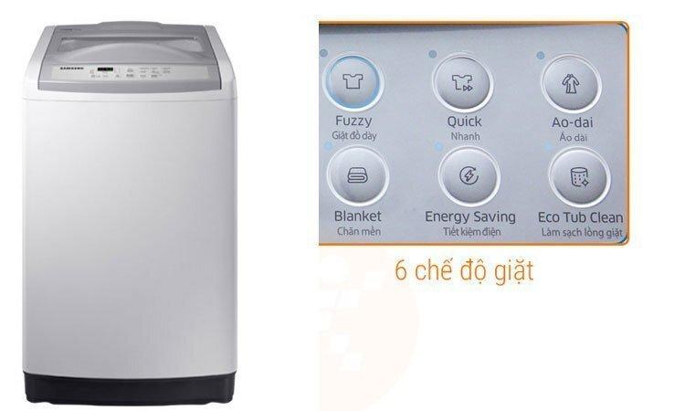 So sánh máy giặt 8kg giá 5 triệu Hitachi SF-80P/ 80PJ và Samsung WA85M5120SW