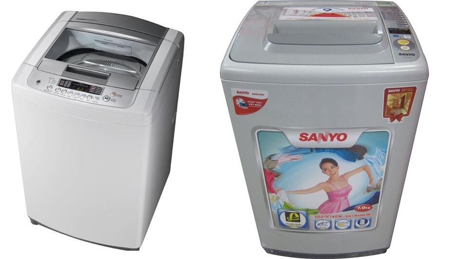 So sánh máy giặt LG WFS7617PS và Sanyo ASW-S70KT (H)