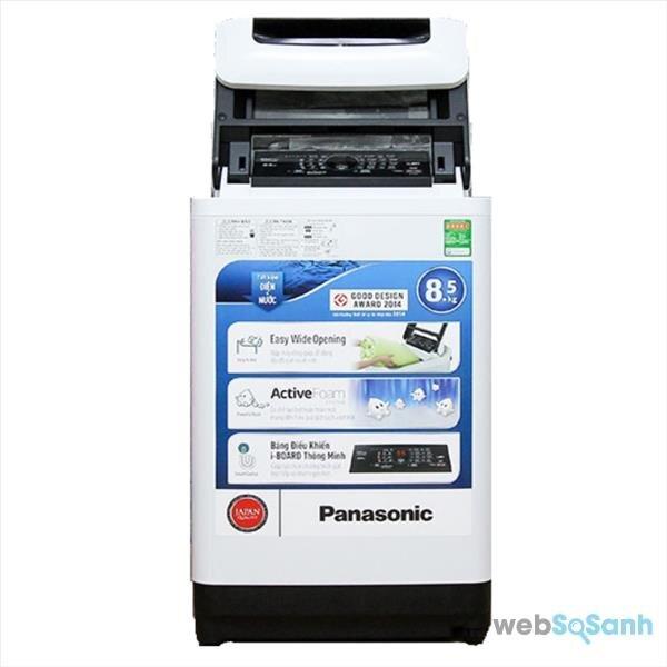 So sánh máy giặt lồng đứng 8kg Panasonic NA-F85A1WRV và Toshiba AW8970SV