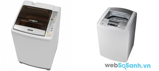 So sánh máy giặt lồng đứng Sanyo ASW-S70V1T và LG WFS7817PS