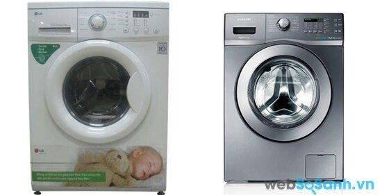 So sánh máy giặt lồng ngang LG WD8990 và Samsung WF9752