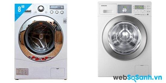 So sánh máy giặt lồng ngang Samsung WF792U2BKWQ/SV và LG WD13600