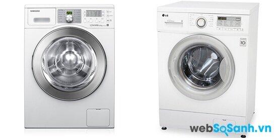 So sánh máy giặt lồng ngang Samsung WF0794 XSV và LG WD10600