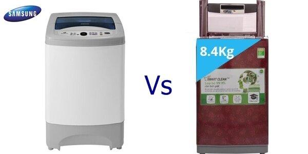 So sánh máy giặt Samsung WA98F4PEC và LG WF-S8419DR