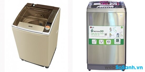 So sánh máy giặt Sanyo ASW-U125ZT và máy giặt LG WFD8527DD
