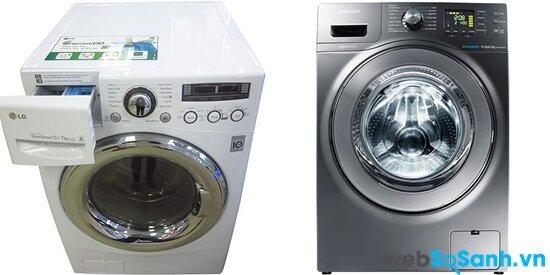 So sánh máy giặt sấy Samsung WD106U4SAGD và LG WD23600