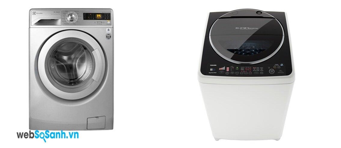 So sánh máy giặt Toshiba AW-DC1700WV và Electrolux EWF12732S