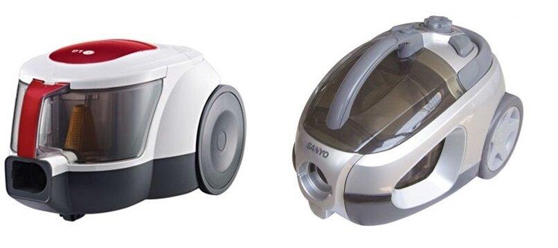 So sánh máy hút bụi LG VC2316NNDO và máy hút bụi Sanyo SC-E830