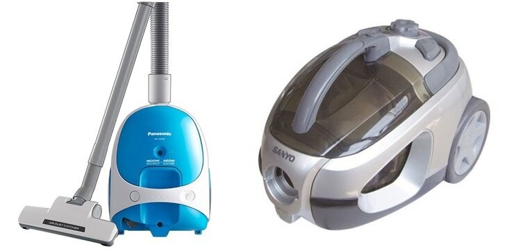 So sánh máy hút bụi Panasonic Cocolo MCCG333 và máy hút bụi Sanyo SC-E830