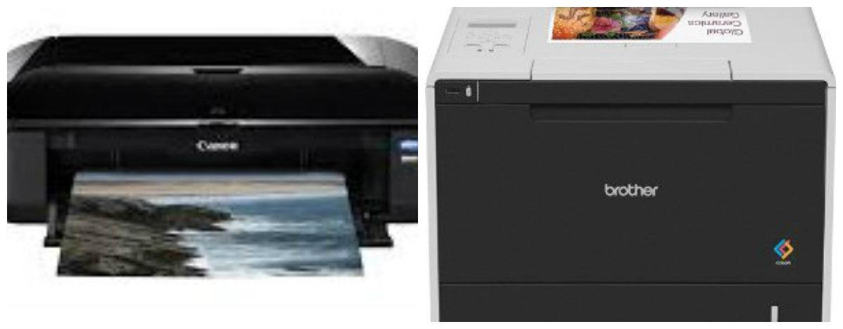 So sánh máy in ảnh Brother HLL8350CDW và Canon Pixma iX6560
