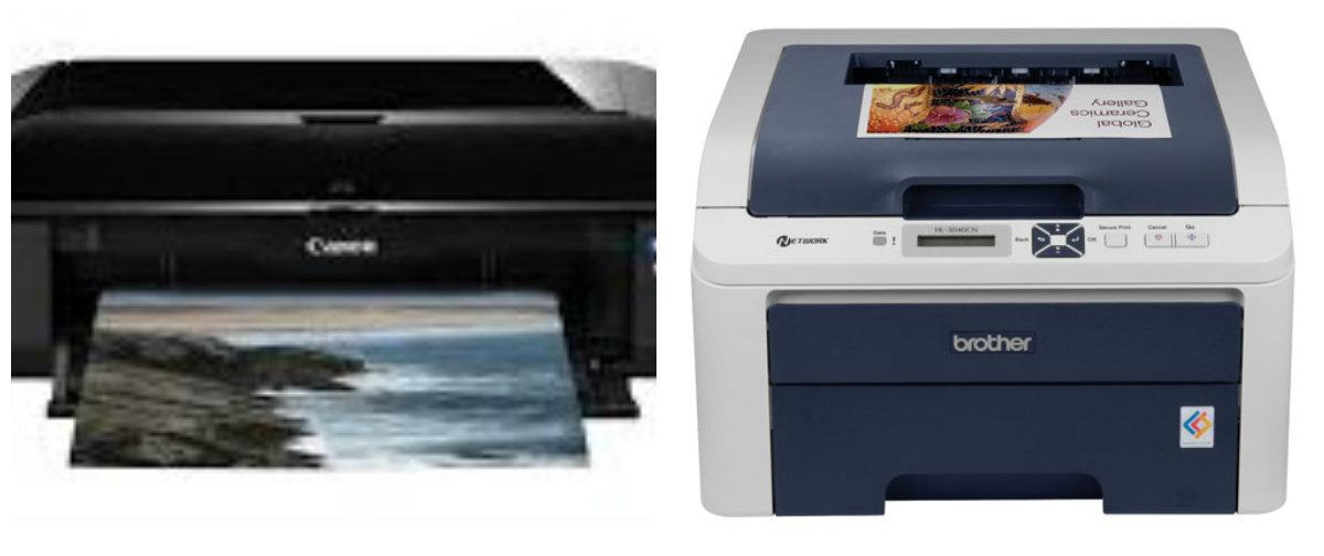 So sánh máy in ảnh Brother HL-3040CN và Canon Pixma iX6560