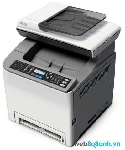 So sánh máy in có scan, fax Ricoh Aficio SP C240SF và Fuji Xerox Workcentre 3210