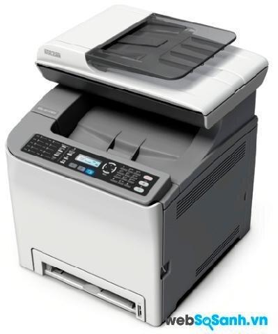 So sánh máy in đa năng có scan, fax hiệu suất cao Ricoh Aficio SP C240sf và HP Officejet Pro 8500