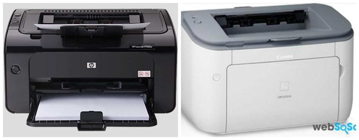 So sánh máy in laser cho văn phòng nhỏ Canon Lbp 2900 và HP P1102W