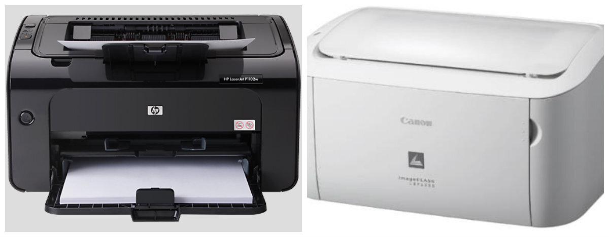 So sánh máy in laser cho văn phòng nhỏ Canon Lbp 6000 và HP Pro P1102W