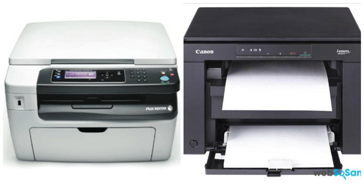 So sánh máy in laser có chức năng scan Canon MF3010 và Fuji Xerox M158