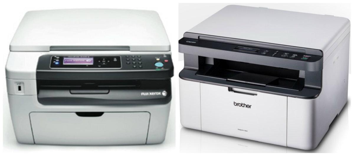 So sánh máy in laser đen trắng có scan cho văn phòng nhỏ Brother DCP 1511 và Fuji Xerox M158b