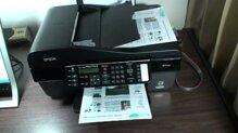 So sánh máy in laser màu có scan, fax Epson Stylus TX510Fn và Fuji Xerox 3210