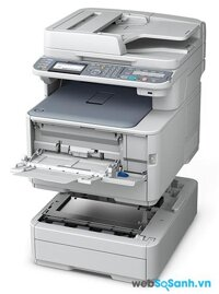 So sánh máy in màu có scan, fax Oki MC362w và Ricoh Aficio SP C240SF