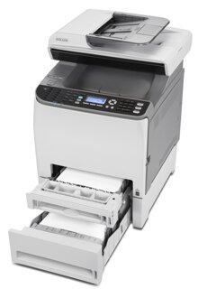 So sánh máy in màu hiệu suất cao có scan, fax Brother MFC 9120CN và Ricoh Aficio SP C240SF