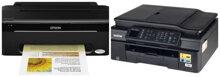 So sánh máy in phun màu Epson Stylus T13 và Brother MFC-J470DW