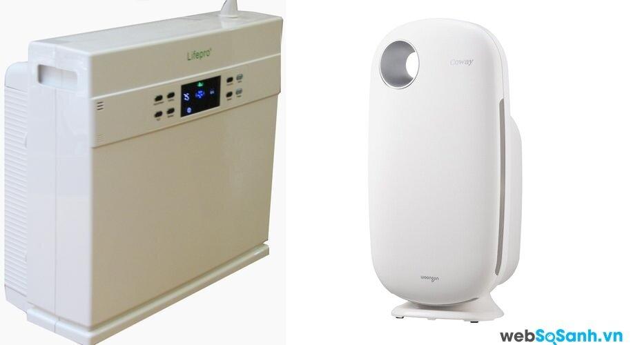 So sánh máy lọc không khí Coway AP-0509DH và máy Lifepro L886