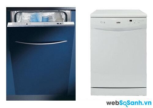 So sánh máy rửa bát Baumatic BDW46 và Chefs Kuche DWF-1200LW