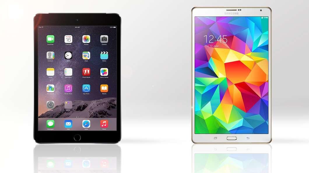 So sánh máy tính bảng Apple iPad mini 3 và Samsung Galaxy Tab S 8.4
