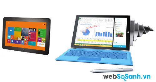 So sánh máy tính bảng  Dell Venue 11 Pro 7000 và Surface Pro 3