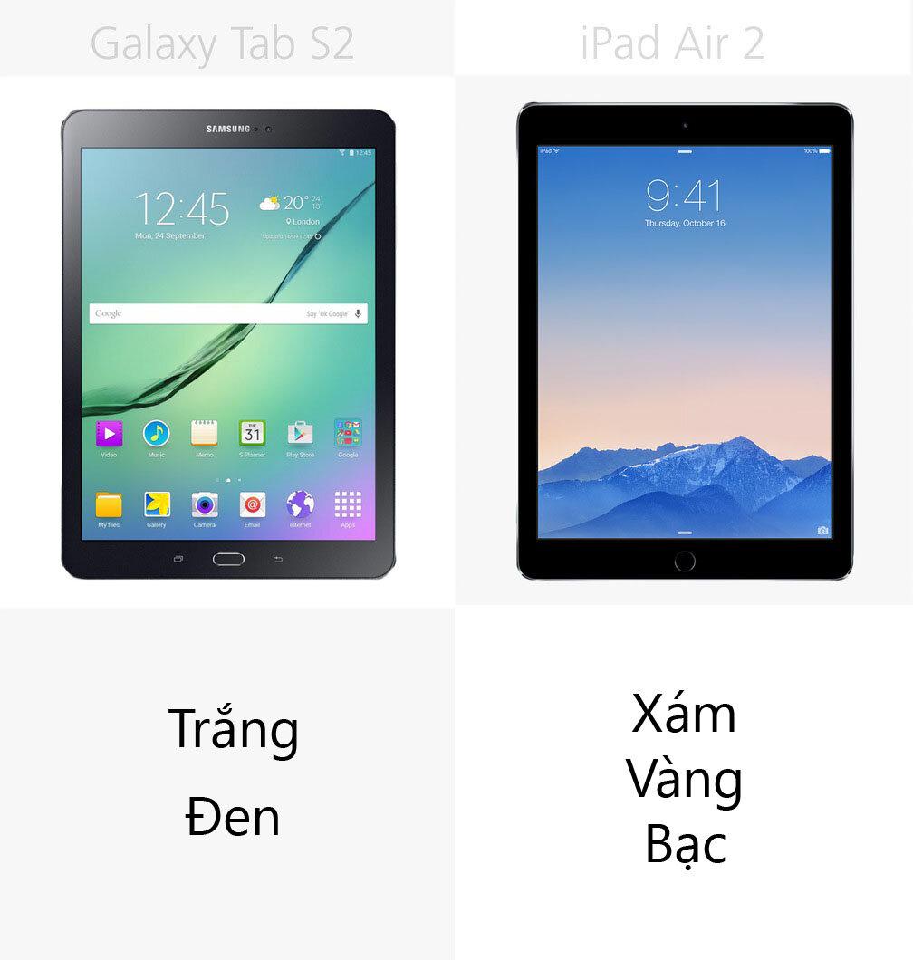 So sánh máy tính bảng Galaxy Tab S2 (9.7 inch) và Apple iPad Air 2