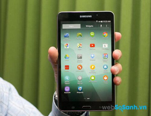 So sánh máy tính bảng Galaxy Tab 4 Nook và Amazon Fire HD