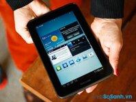 So sánh máy tính bảng giá rẻ Samsung Galaxy Tab 2 và HP Slate 7