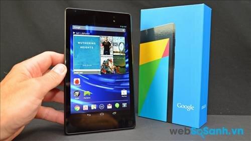 So sánh máy tính bảng Google Nexus 7 và Dell Venue 7 trong tầm giá 4 triệu đồng