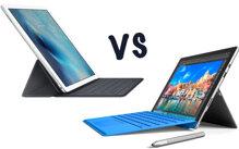 So sánh máy tính bảng lai iPad Pro và Microsoft Surface Book