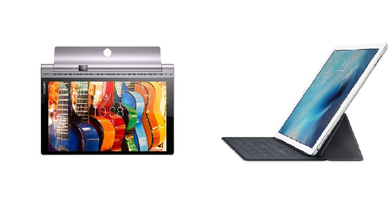 So sánh máy tính bảng lai iPad Pro và Lenovo Yoga 900