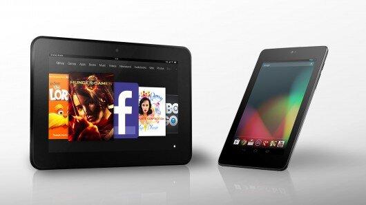 So sánh máy tính bảng màn hình lớn Amazon Fire HD và Nexus 9