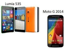 So sánh Microsoft Lumia 535 với Motorola Moto G 2014