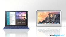 So sánh Microsoft Surface 3 và  MacBook Air 2015