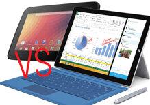 """So sánh Microsoft Surface Pro 3 và  Nexus 10: máy tính bảng hay laptop """"lai""""?"""