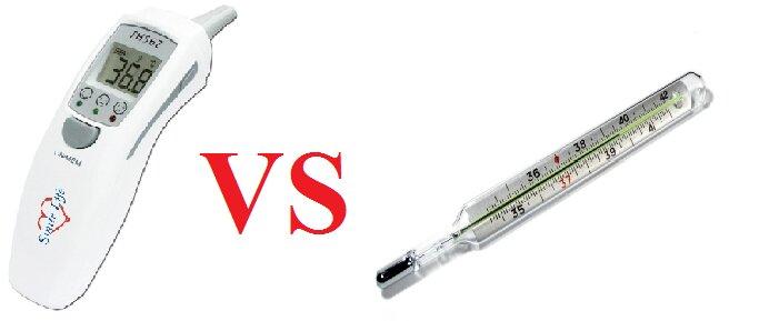 So sánh nhiệt kế thủy ngân và nhiệt kế điện tử