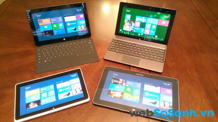 """So sánh những chiếc Laptop """"lai"""" – trải nghiệm cùng Windows 8"""