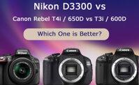 So sánh Nikon D3300 với Canon T3i/600D và T4i/650D (phần 2)
