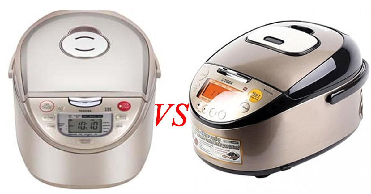 So sánh nồi cơm điện cao tần Tiger và nồi cơm điện cao tần Toshiba 1.8 lít nên mua nồi nào ?