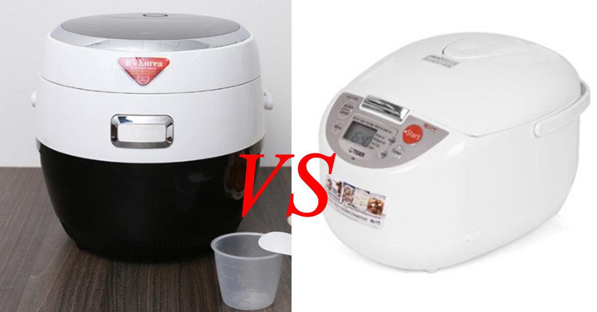 So sánh nồi cơm điện Cuckoo và Tiger – Nồi nào nấu cơm ngon hơn ?