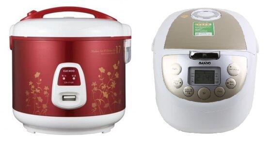 So sánh nồi cơm điện Cuckoo CR1713R và nồi cơm điện Sanyo ECJM200