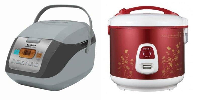 So sánh nồi cơm điện Cuckoo CR1713R và nồi cơm điện Sharp KS-COM19V