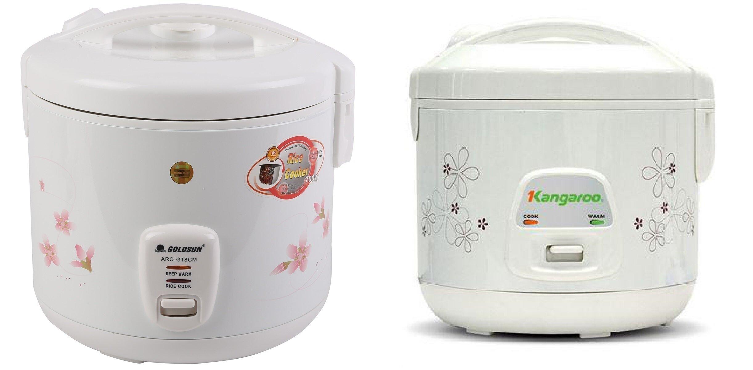 So sánh nồi cơm điện giá rẻ Goldsun ARCG18CM và nồi cơm điện Kangaroo KG18N