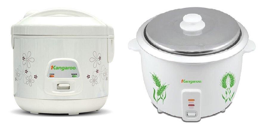 So sánh nồi cơm điện giá rẻ Kangaroo KG18N và nồi cơm điện Kangaroo KG12S