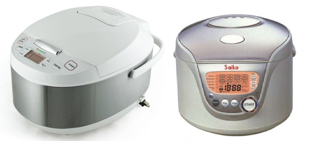 So sánh nồi cơm điện Kangaroo KG26 và nồi cơm điện Saiko RC-1805ET